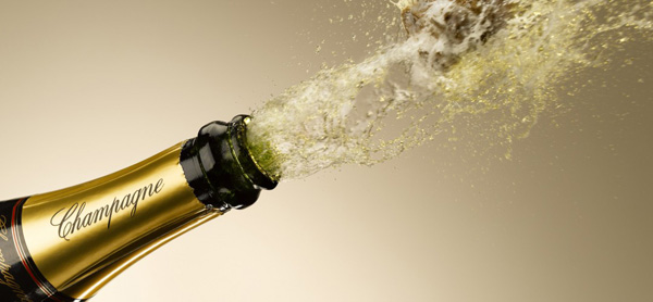 Champaña para San Valentín